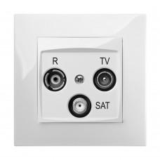 Розетка R-TV-SAT 10dB CARLA 1761-10