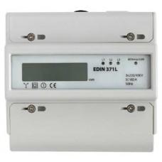 EDIN 371L, 3-фазний, 1-тарифний електролічильник, IP20