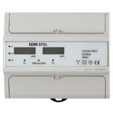 EDIN 372L, 3-ф, 2-тарифний електролічильник, IP20