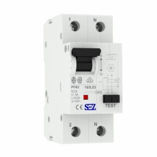 16A 30mA 2P 10kA ТИП A  пристрій захисного відключення PFB2 УЗО SEZ