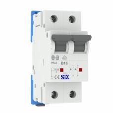 B16A 2P 10kA автоматичний вимикач PR62 SEZ