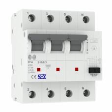 B16A 300mA 4P 10kA ТИП А Диференційний автоматичний вимикач RCBO SEZ