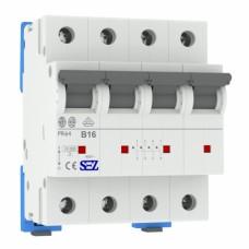 B16A 4П 10kA автоматичний вимикач 4P PR64 B16 SEZ