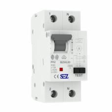 B25A 30mA 2P 10kA ТИП А Диференційний автоматичний вимикач RCBO SEZ
