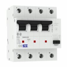 B40A 30mA 4P 10kA ТИП А Диференційний автоматичний вимикач RCBO SEZ