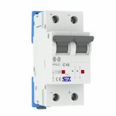 C16A 2P 10kA автоматичний вимикач PR62 SEZ