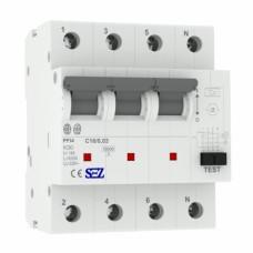 C16A 30ма 4P 10kA ТИП А Диференційний автоматичний вимикач RCBO SEZ