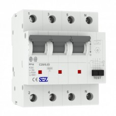 C20A 30ма 4P 10kA тип А Диференційний автоматичний вимикач RCBO SEZ