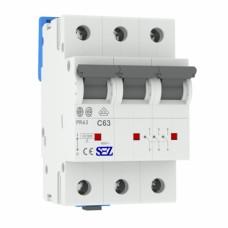 Автоматичний вимикач SEZ PR63 C63A 3P 10kA
