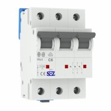 Автоматичний вимикач SEZ PR63 C6A 3P 10kA
