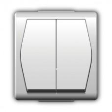 Зовнішній вимикач двоклавішний 1002-00