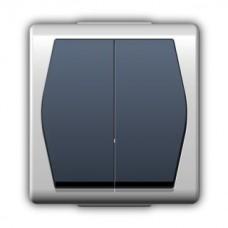 Зовнішній вимикач двоклавішний 1002-01