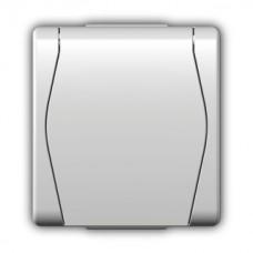 """Зовнішня розетка одномісна з кришкою """"schuko"""" 1024-00"""