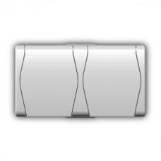 """Зовнішня двомісна розетка з кришкою """"schuko"""" 1025-00"""