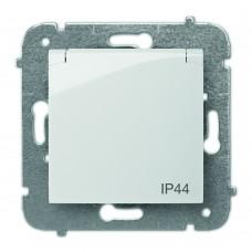 Розетка з заземленням з кришкою IP44 CARLA 1736-10