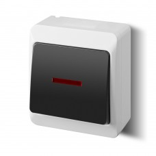 Наружный выключатель одноклавишный с подсветкой 0341-01