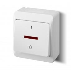 Зовнішній двополюсний вимикач з підсвічуванням 0343-02