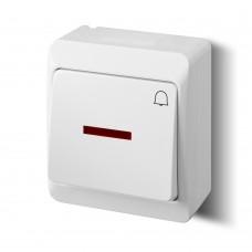 Зовнішній вимикач «Дзвінок» з підсвічуванням 0347-02