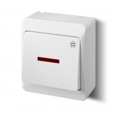 Зовнішній вимикач прохідний з підсвіткою 0348-02