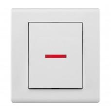 Одноклавішний вимикач з підсвічуванням, вбудований z/r 2123-00