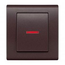 Одноклавішний вимикач з підсвічуванням, вбудований z/r 2123-04