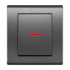 Одноклавішний вимикач з підсвічуванням, вбудований z/r 2123-08