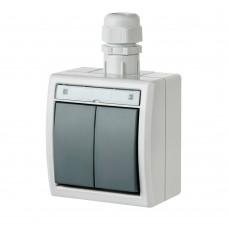 Наружный двухклавишный выключатель AQUANT™ 1202-65