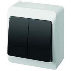 Зовнішній двоклавішний вимикач HERMES™ 0332-01